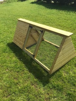 Wooden Triangle Hen Arks with front Cage