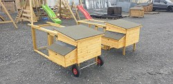 Wooden Hen coop with pen Moveable