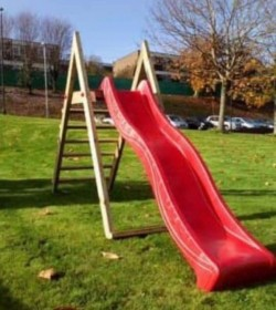 Kids Slide & Wooden Frame