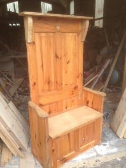 Reclaimed Monks Bench Hall Stand.