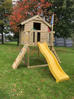 Wood climbing Frame and Playhouse
