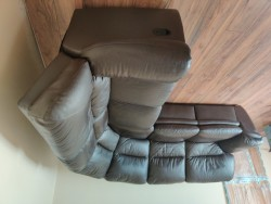 5 Seater Brown Leather Couch