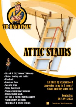 Attic ladder supplied and fitted