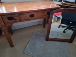 Hall console table and mirror