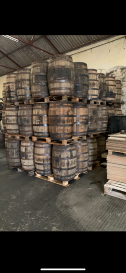 Whiskey barrels - man caves beer gardens home bars