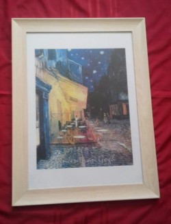 Cafe Terrace at night, framed picture by Vincent Van Gogh