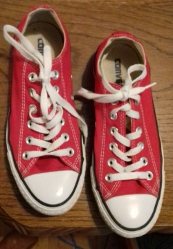 Converse Red sneakers, size 5