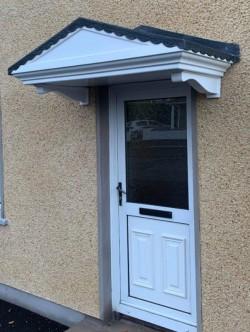 GRP fibreglass door canopy