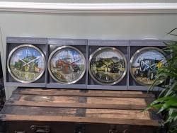 Tractor Clocks - Massey John Deere New Holland