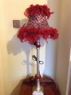 Pink leopard print lamp NEW