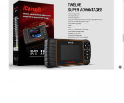 iCarsoft rt 2 (Professional Multi-system Diagnostic tool)