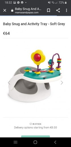 Mamas and papas sit up seat and activity table