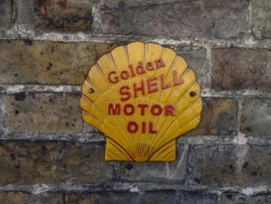 Shell Sign - Cast Iron
