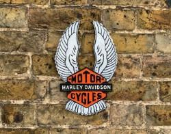 Harley Davidson Wings - Cast Iron