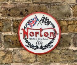 Norton Sign - Cast Iron