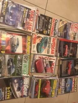 Selection of vintage car magazines for sale