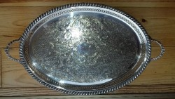 Waterford Silver Tray