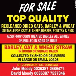 Dried Oats, Barley & Wheat