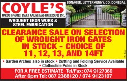 Coyle's - Makers of Gates, Stairs, Railings and Fire Escapes etc.