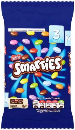 Smarties Hexatube 3 Pack