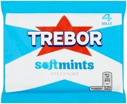 Trebor Softmint Spearmint Roll 4 Pack