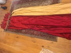 2 sets Large Silk Drape Curtain - Double Lined