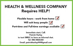 HEALTH & WELLNESS COMPANY Requires HELP!