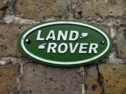 Landrover Sign - Cast Iron