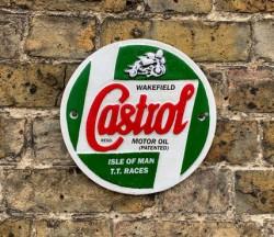 Castrol Sign - Cast Iron