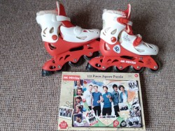 One Direction roller blades & jigsaw