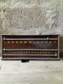 Old Snooker Scoreboard.