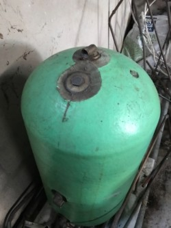 Copper hot water tank for sale ( used )