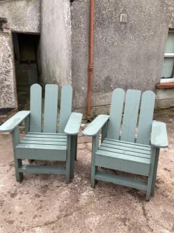 (2) Wooden Garden Seats.