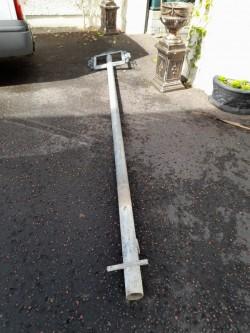 Metal signage pole