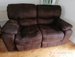Recliner Two Seater Settee.