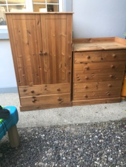 Solid wood children bedroom furniture.