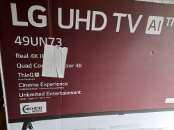 LG 49 inch 4K UHD T V For Sale. AS NEW