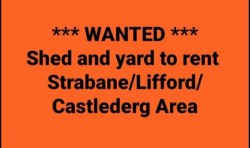 Wanted Shed to rent