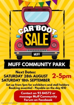 Car Boot Sale at Muff Community Park