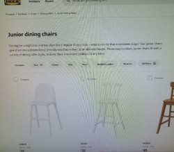 .top top quality very expensive white Junior chair  just recently bought for £35 from IKEA