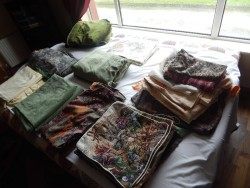 selection of scarfs