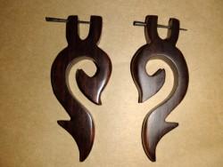 Natural coco wood earrings
