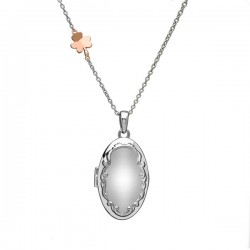 House of Lor Irish Rose Gold Shamrock Locket