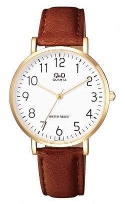 Q & Q Tan Leather watch