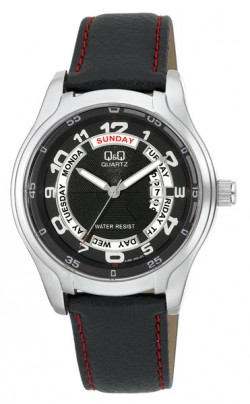 Q&Q Leather watch