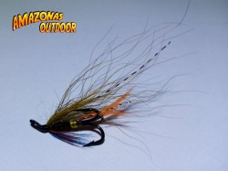 Thunder and Lightning Salmon Fly (Treble Hook)