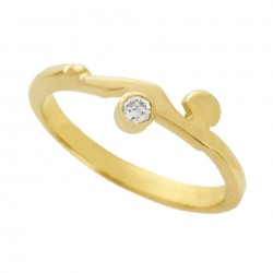 Gold/Diamond Occasions Ring