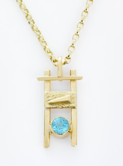 Gold Topaz Pendant on chain